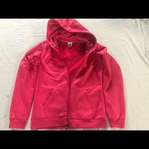 Under Armour Women's Hoodie Zip Jacket Pink Medium